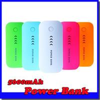 fuente de alimentación del teléfono portátil al por mayor-Al por mayor-Power Bank 5600mAh Portable PowerBank Batería externa fuente de alimentación Cargador móvil para teléfono móvil iPhone 6 Samsung