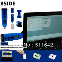 Wholesale Digital Humidity Data Logger - BTH01 Professional Digital Humidity and Temperature USB Data Logger Recorder 0~100% RH LCD Display Dew Point Software CD IP66