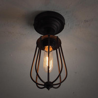 Wholesale Rh Holiday - Loft RH American Industrial Metal One Heads grapefruit Corridor Ceiling Lamp Hallway Balcony American Country Rustic Ceiling Lights