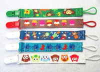 Wholesale Wholesale Fashion Chain Belts - 10 Designs High Quality Fashion Baby Pacifier Holders&Clips Baby Pacifier Clip Drop-Resistant Belt Cartoon Pacifier Clip Chain N1484