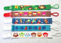 Wholesale Pacifier Fashion - 10 Designs High Quality Fashion Baby Pacifier Holders&Clips Baby Pacifier Clip Drop-Resistant Belt Cartoon Pacifier Clip Chain N1484