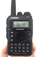 Wholesale Yaesu Vhf Radio - Wholesale-Yaesu UV-8DR Multi-Band Submersible VHF UHF 134-176 400-520MHz Amateur Radio Transceiver uv-8dr walkie talkie