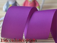 Wholesale Grosgrain Bows For Sale - 15% off hot sale fashion 3'' 75mm polyester plain solid color grosgrain ribbon for gift ribbons bows hair accessories 200yards 196 colors