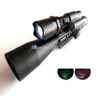 Wholesale Airsoft Electric Rifle - Free Shipping 3-9X40 EG Rifle Gun Airsoft Hunting Scope Scopes With Red Laser Flash Torch Laser Sighting Telescope