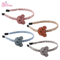Wholesale Mouse Hairband - XIMA 8PCS Lovely Kid Hair Accessories Girls Hair Bands For Children Cute Mouse Hairband Headband for Little Girls GHB032