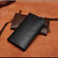 Wholesale Wallet Zipper Compartment - Hot Sell Quality PU Leather Business Style Wallet Solid Zipper Card Holder Note Compartment Photo Holder Men Wallett