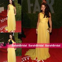 berühmtheiten beiläufige abnutzung großhandel-Alicia Keys Vanity Fair Oscar Party Celebrity Kleider bodenlangen Gelegenheitsveranstaltung Kleider Günstige Formale Prom Abend Lange Gala Wear 2019