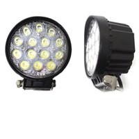 высокая мощность atv оптовых-6000k светодиодный свет работы высокой мощности 42 Вт светодиодный прожектор круглый Off road освещение 12 В / 24 в Рыбалка Airboat ATV Quad Worklights