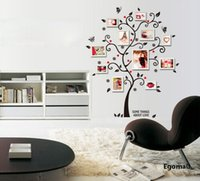 Wholesale 3d Photo Frame Designs - Tree photo frame Diy 3D vinyl wall stickers home decor Design living room sofa vintage poster wall art decals home decoration