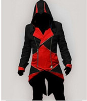 Wholesale Assassins Creed Jacket Conner - Wholesale-Assassins Creed 3 III Conner Kenway Anime Cosplay Assassin's Costume Cosplay Overcoat Jacket Assassins Creed Hoodie