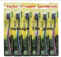 Wholesale Carbon Filament - Free shipping Carbon filament toothbrush wave soft bristled toothbrush to massage the gums teeth whitening teeth clean fashion L