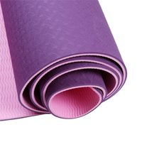 Double Colors TPE Yoga Mat Exercise Pad 6mm Thick Non-Slip Ginásio Fitness Mat Pilates Yoga Exercício Fitness Training Acessórios