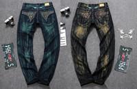 Wholesale High Quality Denim Jeans - Men Straight Jeans Classic Denim Trousers Fall Winter Robin Men Jeans,High Quality Cotton Jeans Fried Snow Slim Jeans Rhinestone Decoration