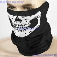 Wholesale Wholesale Bike Gloves - Cycling Mask new Skull Bandana Bike Helmet Neck Face Mask Paintball Sport Headband Hats, Scarves & Gloves Scarves & Wraps