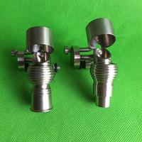 Wholesale titanium 14mm male bucket resale online - Newest Honey Bucket Titanium nail with titanium Carb Cap mm mm Female and Male Grade2 titanium in stock