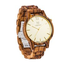 Wholesale Vintage Battery Light - Wholesale UWOOD Wooden Watches Light Vintage Quartz Natural Wood Watches With Japan movement vintage wood wrist watches for man gift