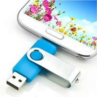 Wholesale Memory For Flash Drive - NEW Smart Phone USB Flash Pen Drive OTG Micro USB Fold Storage Computer U Disk Memory 4G 8G 16G 32G 64G for PC Android Phone