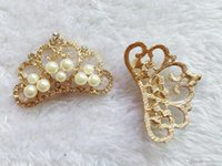 Wholesale Head Jewerly - Baby Jewerly Alloyed Princess Crown Head Accessory Girl Hair Bands Decoration Parts Elegant Gold Silver CF310