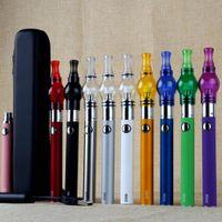 caixa de bateria de vidro venda por atacado-Hot EVOD Bateria Starter Kit com ego bateria de vidro globle cera seca erva Vaporizador Atomizador Clearomizer vape canetas zipper case kit