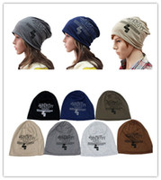 Wholesale Skull Caps Online - Cotton knit cap 10pcs wholesale Winter Fashion Hats Unisex Knitted Caps Beanies Warm Cap Online Wholesale DHL free shipping