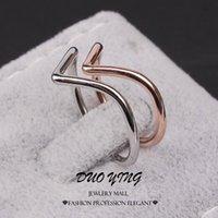 Wholesale Anel Senhor Dos Aneis - Wholesale-2015 Fashion Midi Rings Anel Senhor Dos Aneis 18k Rose Gold Silver Plated Shape V Punk Knuckle Rings For Women