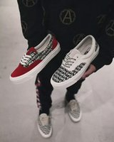 Wholesale Womens Rubber Print Boots - Fear Of God x PacSun Era 97 Reissue Canvas Shoes Mens Womens Casual Shoes ERA 97 Red Black Skateboarding Boots Sneakers