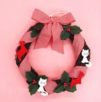 """Wholesale Christmas Pine Wreath - pine garland Christmas decorations sale wholesale 25cm 9.8"""" christmas decorative flower wreath Christmas Garland Gift garland christmas CG04"""