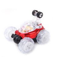 Wholesale Remote Stunt Car - New arrival Children Toy RC Cars Dump Stunt Car Remote Controll Electric Car Toys With Light And Musics For Children
