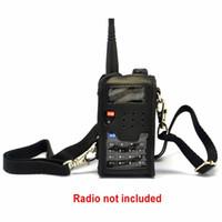 radio douce achat en gros de-Vente en gros-radio souple étui en cuir poche protecteur pour BAOFENG UV-5R UV-5RE plus UV-5RA UV-5RC TY-TH-F8 10pcs / lot