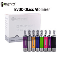 Wholesale Ego Kanger Evod - Original Kangertech Evod Glass BDC Atomizer 1.5ml eGo Thread Bottom Dual Coil VS Kanger T3S T3D Tank Protank 2 EVOD 2