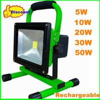 reflector recargable ip65 al por mayor-MOQ 6PCS 20W COB LED reflector de carga recargable Luz de inundación a prueba de agua IP65 110-240V 1800LM lámpara de alta potencia portátil para al aire libre