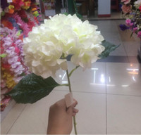 "Wholesale Lights For Centerpieces - Artificial Hydrangea Flower 80cm 31.5"" Fake Silk Single Hydrangeas 6 Colors for Wedding Centerpieces Home Party Decorative Flowers SF015"