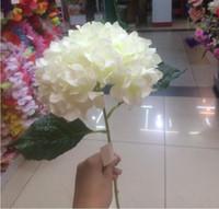 ingrosso fiori singoli rosa falsi-Artificiale Fiore di Ortensia 80 cm / 31.5