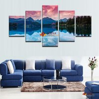 Wholesale Art Reflection - Huge Modern photo canvas print painting Lakeview Reflection in the lake Large HD Picture wall art for Home decor Oil Painting On Canvas