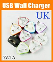 Wholesale Iphone Power Pin - UK Adapter UK GB Plug 3 pin 3 pins USB Wall Travel Charger for NEW iPad 2 Air iphone 4 5 5S for Samsung S4 Note 2 3 AC Power Adapter CAB052