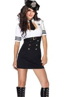 Wholesale Cheap Cosplay Costumes For Sale - women 2015 spring sexy products for women Sexy Pilot Captain Costume cosplay clothing for girl hot sale and cheap 8846