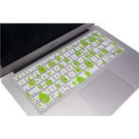 """Wholesale Macbook Pro Keyboard Cover White - Wholesale-Green and White Durable Ultra Thin Backlit Keyboard Protector Cover Silicone Skin for Macbook Pro 13""""15""""17"""""""