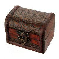 Wholesale Ring Box Antique - Classic Fashion Retro Antique European Style Wood Box Storage Case with Flowers for Jewelry Vintage Women Makeup