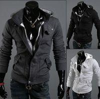 Wholesale Mens Flannel Jackets - M-XXL 3 Color Autumn Men's Long Sleeve Sports casual Suit & Sweatshirt Slim Mens Hoodies cardigan Jacket outdoorwear zipper coat flanne