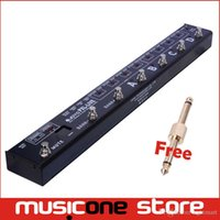 Wholesale Pedal Switcher - JOYO Black PXL Live Programable Looper Control Station Pedal Switcher Dual 4 channel with MIDI out Buffered Bypass free connector mu0029
