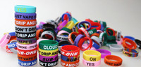 Wholesale Customize Rubber Bracelets - Personalized silicone bracelet, customized silicone band , cheap rubber band vape band, vape band ring, vape band silicone ring 500pcs dhl