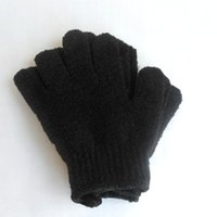 Wholesale Exfoliating Mitts - Color Black Peeling Glove Scrubber Five Fingers Exfoliating Tan Removal Bath Mitts Paddy Soft Fiber Massage Bath Glove Cleaner