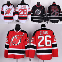 Wholesale Nj Hockey Jersey - 2017 Men's New Jersey Devils Ice Hockey Jersey #26 Patrik Elias Jersey Red White Black A Patch Cheap Stitched NJ Devils Jers