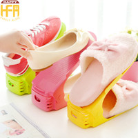 Wholesale Plastic Cupboards - Plastic Shoes Organizer Shoes Storage Rack Home Cupboard Organizer Simple Storage 2 Layers Anti Skid Creative Modern Shoe Organizers