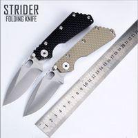 ingrosso coltelli di acciaio migliori-Vendite calde 5trider SMF Black G10 Maniglia 7Cr17 Wov Tactical Survival Folding Knife MSC Lama In Acciaio Inox Migliore qualità