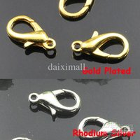 Wholesale Alloy Bag Hook - New Arrival 100pcs Wholesale ZINC ALLOY Rhodium Silver Gold Plated 20mm Lobster Claw Clasps Jewelry Findings for Bags