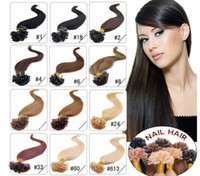 Wholesale u tip 22 613 online - ELIBESS quot quot g s g s keratin nail u Tip Hair Pre Hair Extensions B J dhl free shpping