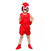 Classico animale Red Fox Cosplay Hallowmas Costume Kids Boy Girls Abbigliamento 3D Copricapo Carnevale Party