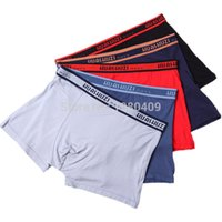 Wholesale Wholesale Underwear China - Wholesale-Free Shipping 4 pcs High quality 4XL 5XL 6XL Mens underwear Comfortable Modal Hombre Boxer Shorts Men's Boxers From China
