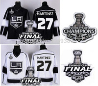 Sconto # 27 Alec Martinez Jersey Jersey Los Angeles Kings White Road bianco LA Hockey Maglie 2014 Stanley Cup Champions